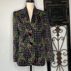 Vintage New York Paris Florence floral blazer 12